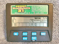 RADICA POCKET BLACKJACK 21 HANDHELD ELECTRONIC CASINO CARD GAME MODEL 1350 NICE