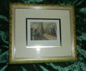 "Vintage Early 1900s Fred Thompson Tinted Photo ""October Woods"" Framed"