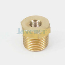 """1/2"""" BSPT Male x 1/8"""" NPT Female Reducing Bushing Brass Pipe Fitting Adapters"""
