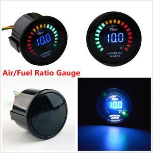 "2"" 52MM 20 LED Digital Car Air/Fuel Ratio Monitor Meter Pointer Gauge Universal"
