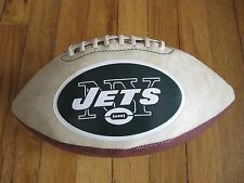 New York JETS North Fork Bank Collectible Full Size Football With Free Shipping