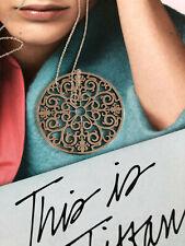 Wundervolle lange Kette von Tiffany mit XL rundem Enchant Anhänger, 925 AG