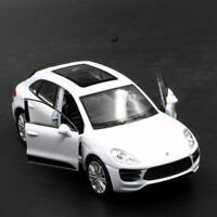 Porsche Macan Turbo Model Car Toys 1:36 Open two doors Gift Alloy Diecast White