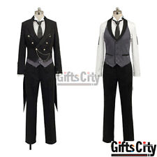 Black Butler 2 Kuroshitsuji Sebastian Michaelis Clothing Uniform Cosplay Costume