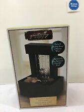 Mirrored Wall LED Fountain with Pebbles, Office, Table Top decor NEW