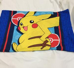 Pokemon Pikachu Pillowcase Blue Pokeball 2017 Northwest Electric Ignite
