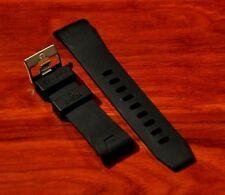 Ω 22mm Black Rubber Watch Band Strap With Clasp Buckle For Omega Seamaster Ω