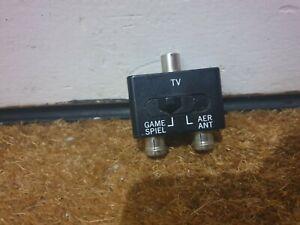 RF TV Splitter Switch Box Aerial / Antenna NES SNES N64 Nintendo 64 SEGA - N1