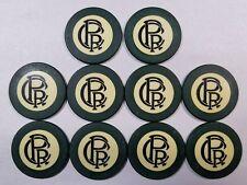 10 Antique Green Crest & Seal 1927 Poker Chip PRC Progressive Realty Co St Louis