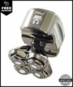 Skull Shaver Pitbull Platinum PRO Electric Razor Wet/Dry 4 Head 4d Cordless