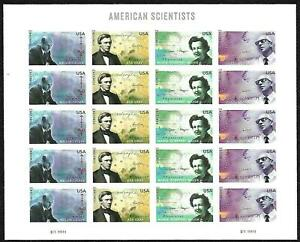 US, Forever #4541-4544 American Scientists - Sheet of 20 Mint Never Hinged