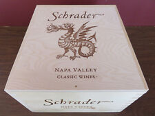 SCHRADER NAPA VALLEY WOOD WINE BOX/CRATE/CASE