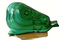 "Malachite carved Pear.  2.5 x 1.5""  3.4 ounces"
