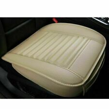 Universal Car Front Seat Cover Full Surround PU Leather Chair Cushion Mat Beige