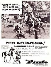 Vintage ad 1973 Pinto International Albuquerque NM Pinto Horse Assoc. of America