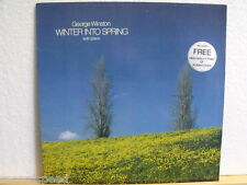 "★★ 12"" LP - GEORGE WINSTON - Winter Into Spring - Solo Piano + Print of PS"