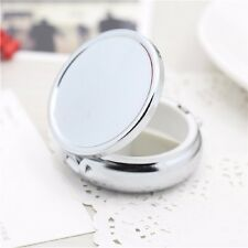 Stylish Divide Storage Metal Round Silver Pill Boxes Container Medicine Case
