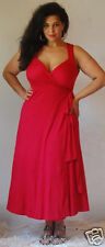 RED MAXI DRESS SEXY WRAP FASHION 2X 3X 4X PLUS ZC585