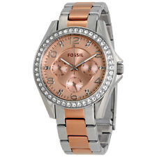 Fossil Riley Rose Gold Dial Ladies Multifunction Watch ES4145