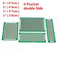4PCS/Lot 5x7 4x6 3x7 2x8 cm double Side Copper prototype PCB Universal Board Kit