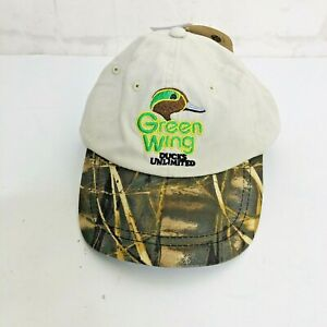 REALTREE MAX 4 Youth 4-7 Ducks Unlimited  Green Wing Cap Hat
