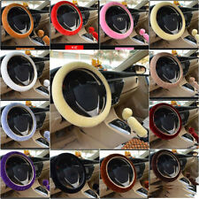 3/Set Plush Fur Fluffy Car Steering Wheel Cover Handbrake Cover Gear Knob Cover