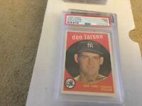 1959 Topps #205 Don Larsen New York Yankees PSA 7 NM Newly Graded