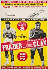 "11x14"" CANVAS Decor.Room art print.Travel shop.Boxing fight.Ali vs Frazier.6049"