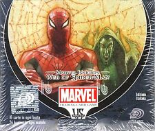 VS VERSUS SYSTEM Marvel Knights Web of Spiderman BOX 24 PACKS NEW SEALED ITA