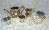 Antique 19th C Victorian Boardman & Glossop Silver Plated Teapot & Other Items