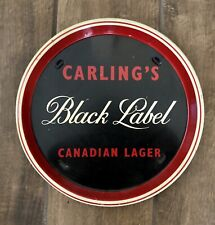 Vintage Carling's Black Label Canadian Lager Round Metal Beer Pub Tray
