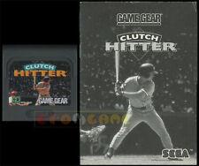 CLUTCH HITTER Game Gear Versione Americana  ••••• CARTUCCIA E MANUALE