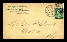 US COVER NASVHILLE TENNESSEE COMMERCIAL FURNITURE CORNER CARD 1888