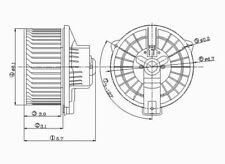 HVAC Blower Motor Front TYC 700060 fits 00-06 Toyota Tundra