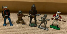 Leaded Toy Soldiers Indians - Vintage pre-1970 - lot of 6 Ww Revolution