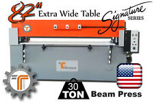 "NEW!! CJRTec 30 Ton 82"" Extra Wide Table Beam Clicker Press Die Cutting Machine"