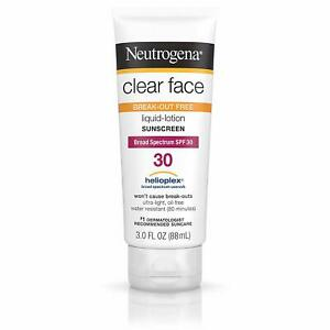 Neutrogena Clear Face Liquid SPF 30, 89 ml / 3 oz.