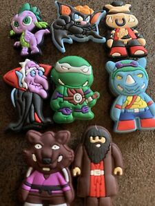 Selection Of 8 Silicone MINI Heroes Villains Monsters Witches Fridge Magnets