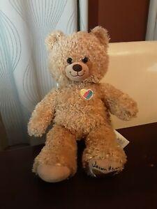 "RARE Build a Bear Jason Mraz Plush 15"" BAB Stuffed Animal Rainbow Heart"