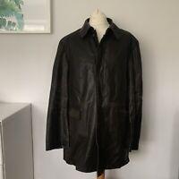 JAEGER Jacket Size XL Brown   Men's Trench Coat Winter Smart Long Casual Work