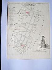 Plan de Paris  Quartier des Lombards - Tour St Jacques la Boucherie PERROT 1834