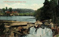LAKE WAMPANAW, NEAR CANAAN, CONN. CT. CONNECTICUT. DAM. HOUSES.