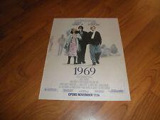 "KIEFER SUTHERLAND_ROBERT DOWNEY JR.-""1969""-Original Movie Promo AD"