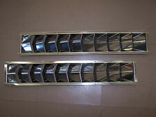 "331280 Sea-Dog Line PAIR Stainless Steel Louvered Vents 24"" L 10 Slots 132-1926"