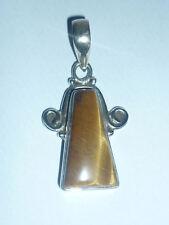 cristalloterapia PENDENTE ARGENTO 925 OCCHIO DI TIGRE pietra naturale gioiello 2