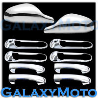 Chrome Non-Folding Mirror+ 4 Door Handle W/PSG KH Cover for 05-11 Dodge Dakota