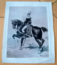 ARMEE ITALIENNE / OFFICIER DE CAVALERIE / MARCHETTI  / 1904 / GRAVURE ANCIENN E