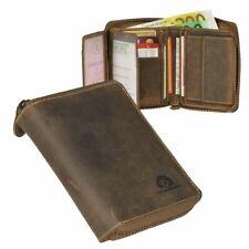 Greenburry Vintage Rv-kombibörse Geldbörse hoch Leder Unisex Portemonnaie