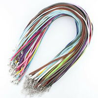 """Lots Soft Velvet Korea Frosting Cord Thread Silver Adjustable Chain Necklace 20"""""""