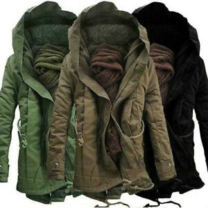 Winter Men's Military Coat Ski Jacket Hooded Thick Cotton Padded Coat Outwear Sz